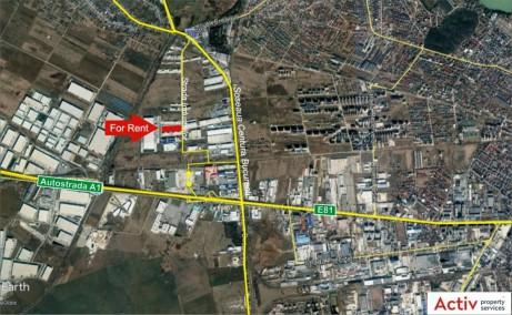Aggresione Industrial Park inchiriere spatiu depozitare Bucuresti vedere din satelit