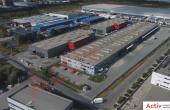Aggresione Industrial Park inchiriere spatiu depozitare Bucuresti vest vedere laterala acces auto