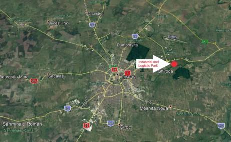 Parc Industrial si Logistic Timisoara inchirieri parcuri industriale Timisoara nord est vedere din satelit amplsare