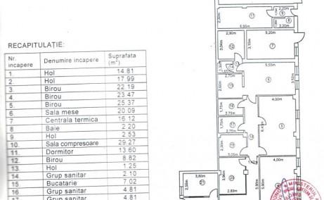 Inchiriere depozit frigorific Bucuresti, zona Otopeni, detalii plan spatiu