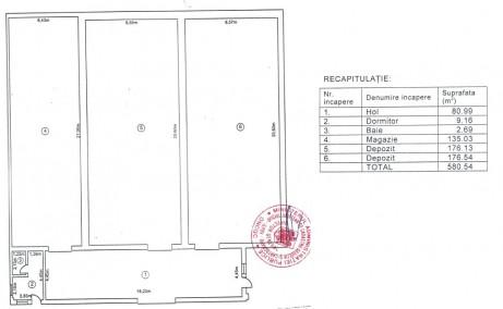 Inchiriere depozit frigorific Bucuresti, zona Otopeni, vedere curte interioara plan hala industriala