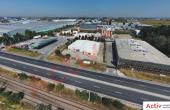 Inchiriere depozit frigorific Bucuresti, zona Otopeni, vedere fatada cladire industriala