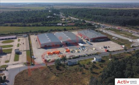 Pantelimon Logistic Center  inchiriere spatiu de depozitare Bucuresti est vedere platforma betonata