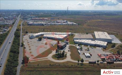 Mega Company Chiajna inchiriere spatiu de depozitare Bucuresti vest vedere de ansamblu parc logistic