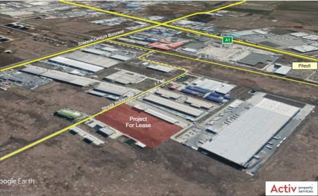 Spatii industriale Litera inchiriere spatiu depozitare Bucuresti vest vedere satelit