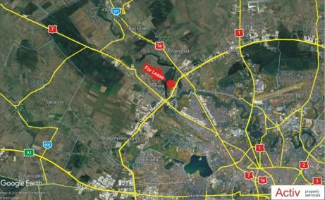 LIFTCON Mogosoaia inchiriere spatii depozitare / productie Bucuresti nord-vest vedere localizare google panoramic