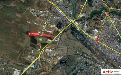 CTPark Chitila inchiriere spatiu depozitare Bucuresti nord-vest vedere din satelit
