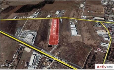 CTPark Chitila inchiriere spatiu depozitare Bucuresti nord-vest vedere din satelit amplasare