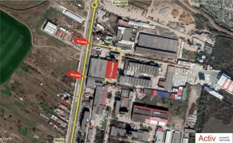 Spatiu depozitare/productie Giurgiului - Jilava de inchiriat Bucuresti, sud, localizare google maps