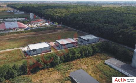 Hala Dragomiresti Deal hala de vanzare Bucuresti vest, vedere laterala parc logistic