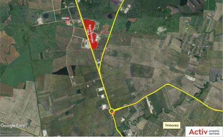 Proprietate de vanzare - Banat Business Park Sanandrei - localizare google maps