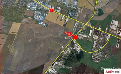 Hala de inchiriat Bucuresti Sud, zona Popesti Leordeni - localizare harta