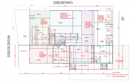 Hala de inchiriat Bucuresti Sud, zona Popesti Leordeni - plan constructie