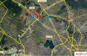 Hale de inchiriat in Promax Industrial Park, Bucuresti Nord - localizare harta