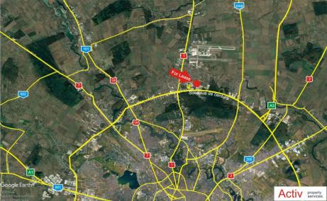 Hala de Vanzare Bucuresti – Zona Otopeni, localizare hala