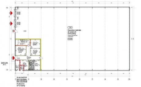Hala de Vanzare Bucuresti Nord, zona Otopeni – Avram Iancu 11A, plan hala