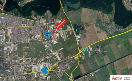 Spatii de inchiriat AIVA Warehouse, Bucuresti est - localizare harta