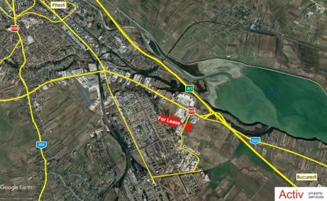 Inchiriere spatii industriale Pitesti Sud, Eli Park, localizare harta