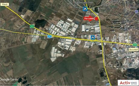 Spatii Industriale de inchiriat Bucuresti vest, Key Logistic Center - harta amplasament