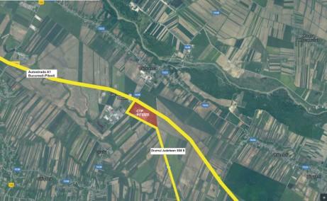 CTPark Pitesti -inchiriere spatiu depozitare Pitesti sud vedere google map