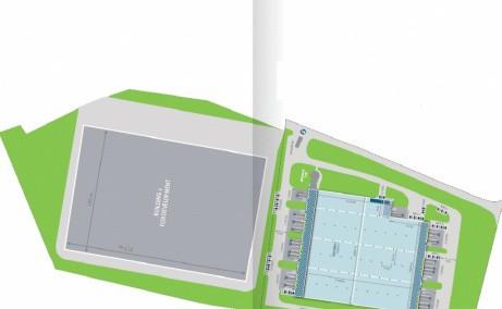 LOGICOR Timisoara  inchiriere spatii depozitare si productie Timisoara nord-est vedere plan