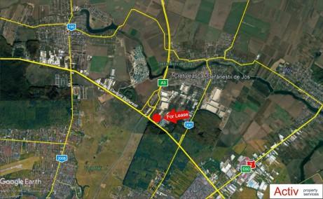 Spatii depozitare de inchiriat in Stefanesti, Bucuresti nord vedere panoramica