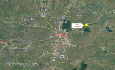 CTPark II Timisoara inchiriere spatiu de depozitare Timisoara  nord-est localizare harta