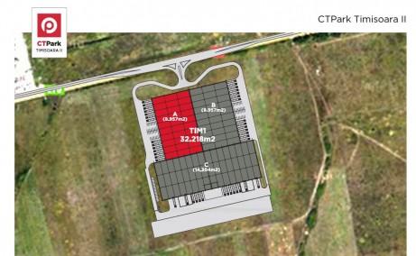 CTPark II Timisoara inchiriere spatiu de depozitare Timisoara  nord-est plan cadastral cladire