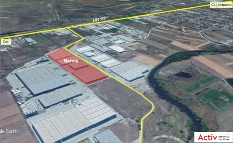 Nervia Industrial Park inchirieri parcuri industriale Cluj-Napoca est vedere satelit