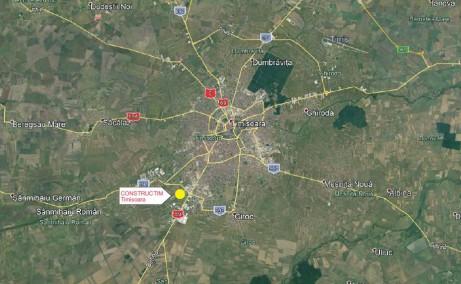 Hala Constructim Timisoara  inchiriere spatiu depozitare Timisoara  sud localizare harta